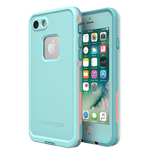 Lifeproof FRĒ SERIES Waterproof Case for iPhone 8 & 7 (ONLY) - Retail Packaging - WIPEOUT (BLUE TINT/FUSION CORAL/MANDALAY BAY) (Best Drop Proof Iphone 8 Case)