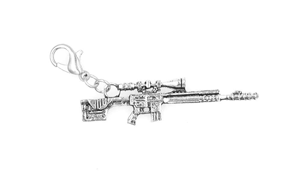 Its All About...You Sniper Rifle Stainless Steel Clasp Clip on Charm 79E