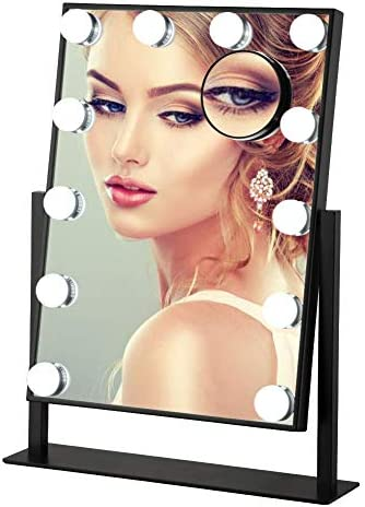 Large Vanity Mirror Makeup Mirror Mirror with Lights Vanity Mirror with Lights Lighted Makeup Mirror Hollywood Makeup Mirror with Lights Girls Vanity Mirror Smart Touch Control LED 3 Color Lights