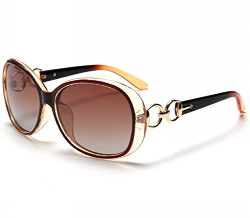 BVAGSS Lunettes De Soleil Mode Femme Tide Anti - UV Style Vintage(WS008) (Brown) x7O8IcgY