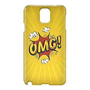 Loud Universe Samsung Galaxy Note 3 3D Wrap Around Comic OMG Print Cover - Yellow