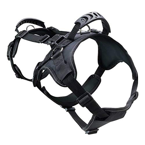FrontPet Heavy Duty Dog Lifting and Pulling Harness Equipment, Fits 26.5 to 31.5 Inch Body, for Walking, Running, Hiking, Lifting, Carrying and Transporting Canines and Other Pets, Large, Black ()