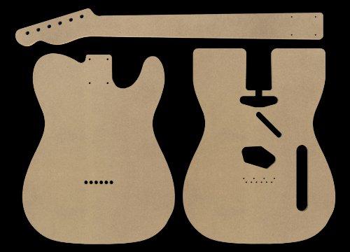 Amazon.com: Telecaster MDF Guitar Body and Neck Template 0.25 ...