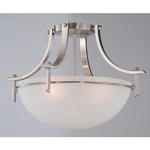 Jojospring Satin Nickel 3-light Ceiling Fixture