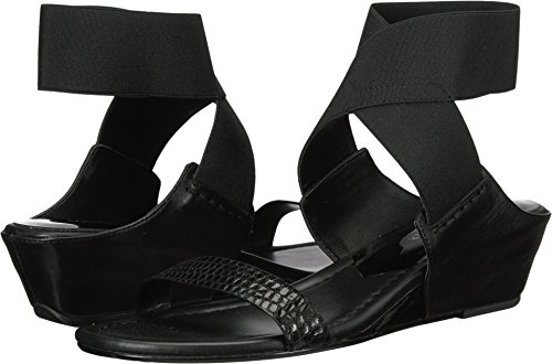 Donald J Pliner Women's Eeva Wedge Sandal, Black, 7.5 M US ()