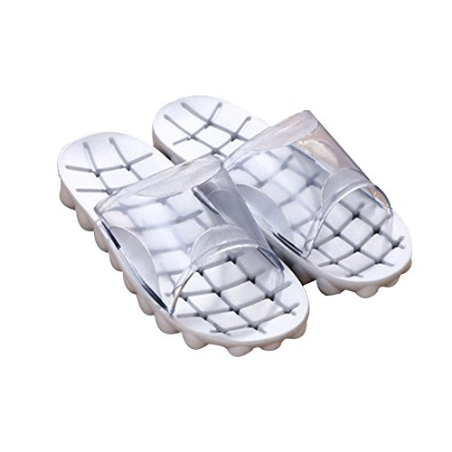 TELLW Summer Fall Fashionable bathroom slippers home wood flooring non-slip bathing couple Slippers Woman Gray cyi4Lt