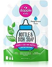 Dapple Baby Bottle & Dish Soap, Fragrance Free, Refill Size, 34 fl.Oz
