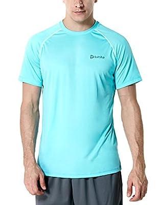 CLSL TM-MTS03-SBL_Small Tesla Men's HyperDri Short Sleeve T-Shirt Athletic Cool Running Top MTS03