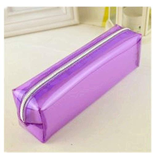 (185mm Candy Colors Pencil Box Transparent estuches School Girl Kawaii Pencil Cases Lapis escolar astuccio scuola pencilcase)