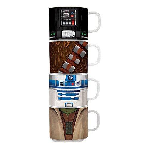 Stacking Coffee Mug Cup - Vandor Star Wars 4 Piece Stacking Ceramic Mug Set (99106)