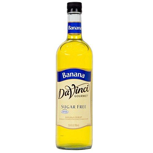Da Vinci SUGAR FREE Banana Syrup with Splenda, 750 ml