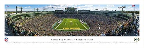 (Green Bay Packers - End Zone at Lambeau Field - Panoramic Print)