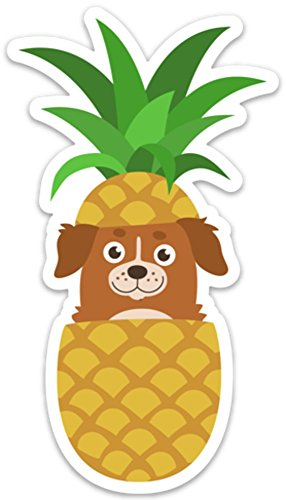 (Pineapple Dog Sticker Decal 4