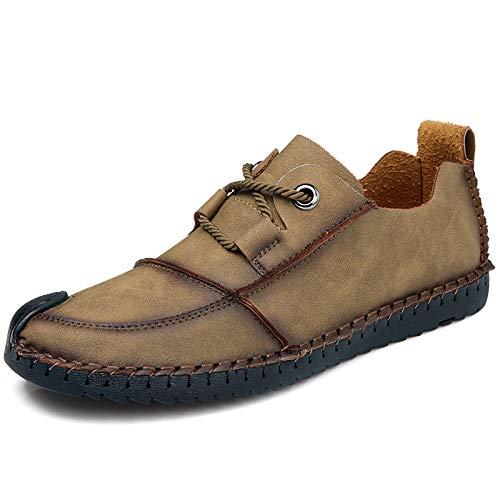 Hombres transformada Los Versión Inferior 45 Gran La Tamaño Suave Nuevos Parte Coreana Zapatos 46 Khaki Casuales Hombres Super Cuero De Yxlong IBA6cOqwSc