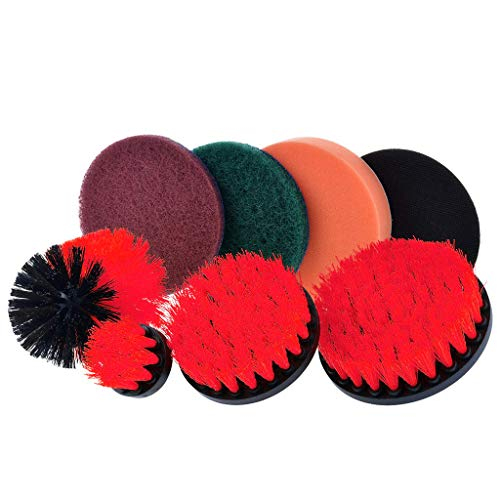 - VICCKI Drill Brush Scrub Pads 8 Piece Power Scrubber Cleaning Kit All Purpose Cleaner S