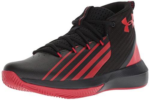 Under Armour Boys' Grade School Launch Basketball Shoe, Black (001)/Red, 4.5 M - Basketball Shoes Big Kids Jordan