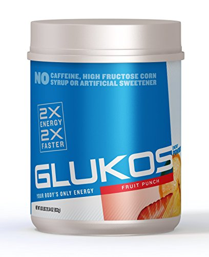 Glukos Energy Powder, Fruit Punch, 1.83 lbs