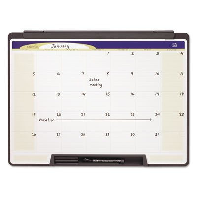 Quartet Motion Workstation Dry Erase Calendar Board, 18 x 24 Inches (MMC25)