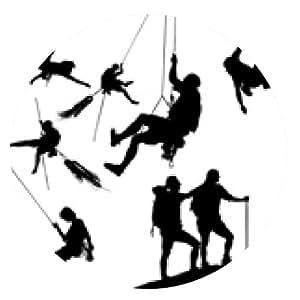 alfombrilla de ratón Siluetas del escalador - ronda - 20cm
