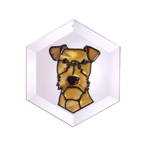 (Irish Terrier Painted Glass Suncatcher (Ew-207))