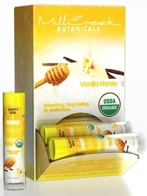 Mill Creek Lip Balm Vanilla Honey USDA Organic -0.15oz / (Best Mill Creek Lip Balms)