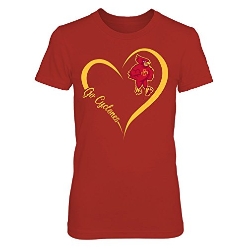 Iowa State Cyclones - Heart Mascot - Gildan Women's T-Shirt - Officially Licensed Fashion Sports Apparel