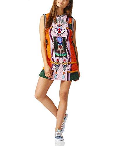 Green Stripe Tennis Dress - adidas Originals x Mary Katrantzou Women's Digital Print Crepe Tank Dress (Small)