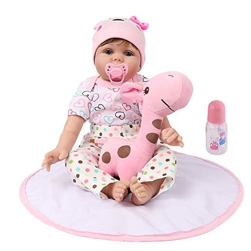 (Kaydora Reborn Baby Doll 22 Inch Handmade Weighted Baby Girl Reborn Toddler with A Cute Giraffe)