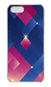 iPhone 5 5S Case The 3D Blue Pink Light emitting Body PC Custom iPhone 5 5S Case Cover Transparent