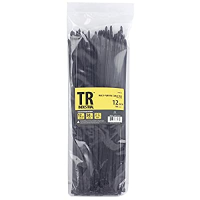 "TR Industrial TR88303 Multi-Purpose Cable Ties (100 Piece), 12"", Black from Capri Tools"