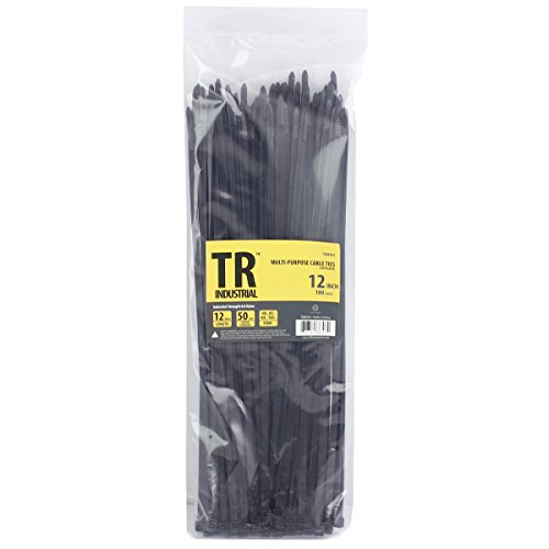 TR Industrial TR88303 Multi-Purpose Cable Ties (100 Piece), 12, Black