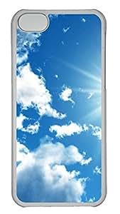 iPhone 5C Case, iPhone 5C Cases -Bright Sky Polycarbonate Hard Case Back Cover for iPhone 5C¨C Transparent