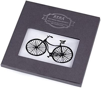 1pc White Bike Men's Handkerchief in Gift Box - Bike, Car, Motorbike, Mens Handkerchiefs, Fashion Accessories