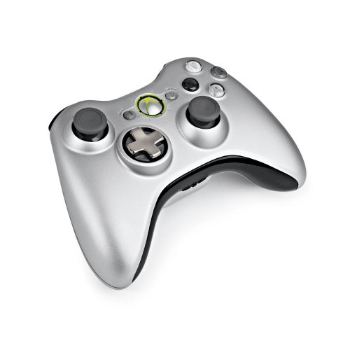 Xbox 360 Silver Controller and Play & Charge Kit by Microsoft