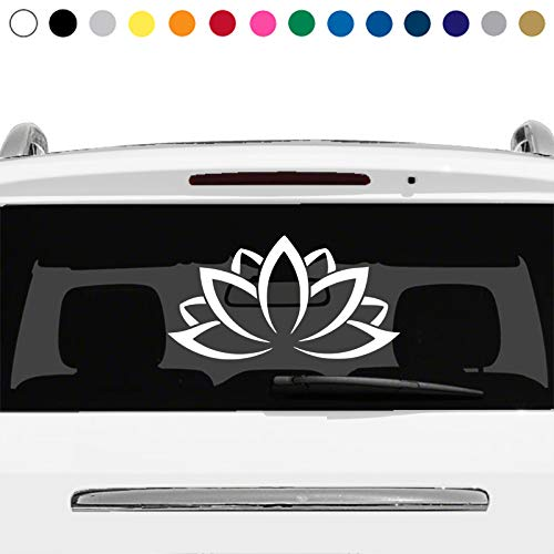 Lotus Flower Yoga Symbol Buddhism Spiritual Aum Om Rear Window Sticker Decal Car Truck Suv Laptop v3 MANY SIZES and COLORS