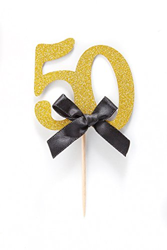 Compare price to number 50 cupcake topper for 50th birthday decoration packs