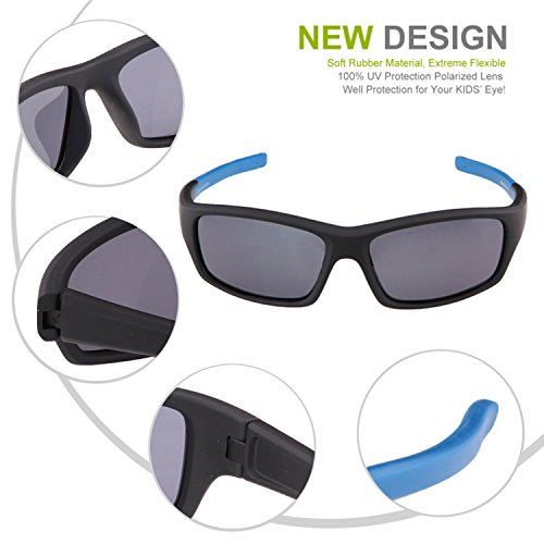 71a99d8eb6 Duco Kids Sports Style Polarized Sunglasses Rubber Flexible - Import It All