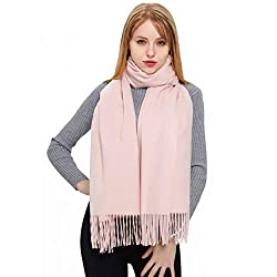 Cashmere Scarf And Shawl Vimate Novelty Cashmere Pashmina Scarf And Wraps For Women Girls Men Baby Pink