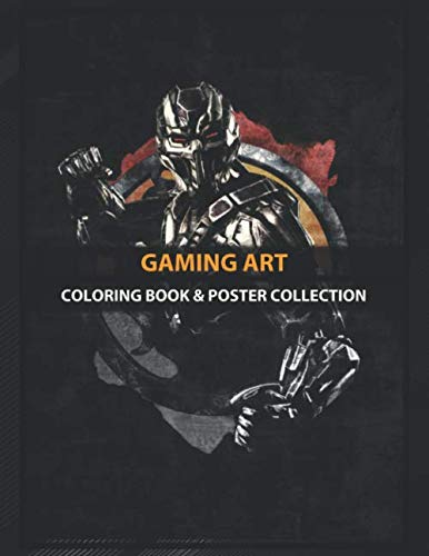 Coloring Book & Poster Collection: Gaming Art Triborgsmoke With Grunge Effect This Fanart Gaming