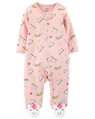 Carter's Baby Girls' Footie Sleep N Play (6 Months, Pink Unicorn) (Knit Collection Cuddly)