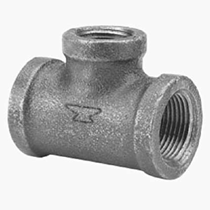 Anvil 8700122057 Malleable Iron Pipe Fitting Reducing Tee Black Finish 1-1//4 x 1-1//4 x 1//2 NPT Female Anvil International 1-1//4 x 1-1//4 x 1//2 NPT Female