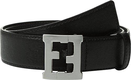 Fendi Logo Buckle Belt (Fendi Kids  Baby Boy's Logo Buckle Leather Belt (Toddler/Little Kids/Big Kids) Black)