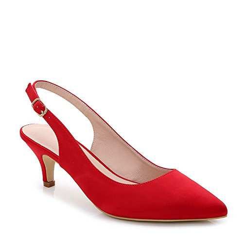 ComeShun Womens Shoes Slingback Kitten Heels Dress Pumps
