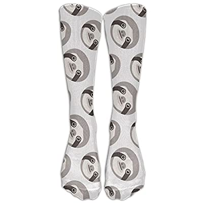 Cute Sloth Unisex Cotton Pattern Crew Socks Athletic Socks For Boys And Girls - Sloth Socks