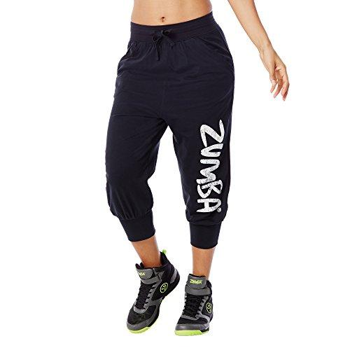 Zumba Fitness Women's Z Jersey Capri, Back to Black, Small