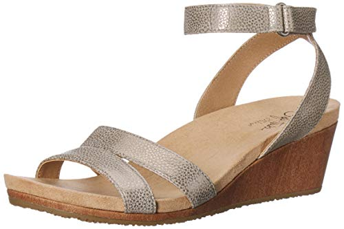 (LifeStride Women's MAX Wedge Sandal, Putty Zwb-BK-RNUM-Wdbzrnum, 7 M US)