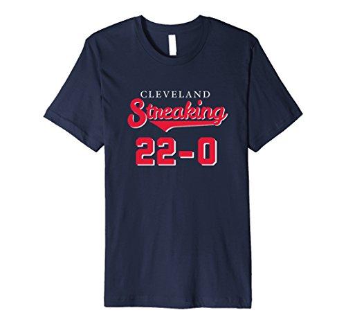 Mens 22-0 CLEVELAND STREAKING History Win Streak PREMIUM T Shirt Medium Navy (Cleveland Indians Tee Shirts)
