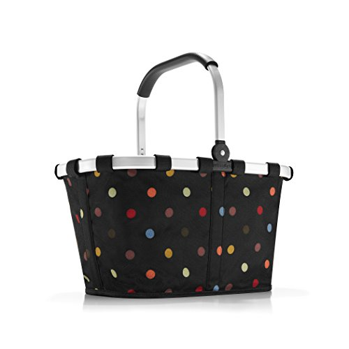 reisenthel Carrybag Fabric Picnic Tote, Sturdy Lightweight Basket for Shopping and Storage, Dots