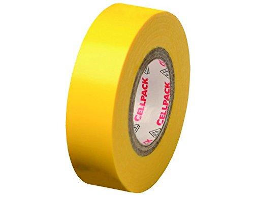 Cellpack, No. 128, dimensions 25m x 30mm x 0,15mm (longueur x largeur x é paisseur), jaune, Ruban d'isolation é lectrique en PVC 15mm (longueur x largeur x épaisseur) Ruban d' isolation électrique en PVC 145787