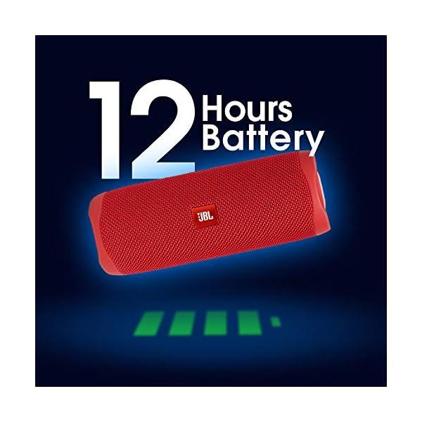 JBL Flip 5 Enceinte Bluetooth Portable avec Batterie Rechargeable, Étanche, Compatible Siri et Google, Rouge 3